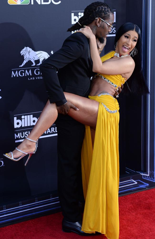 US rappers Cardi B and Offset attend the 2019 Billboard Music Awards at the MGM Grand Garden Arena on May 1, 2019, in Las Vegas, Nevada. Picture: Bridget Bennett/AFP