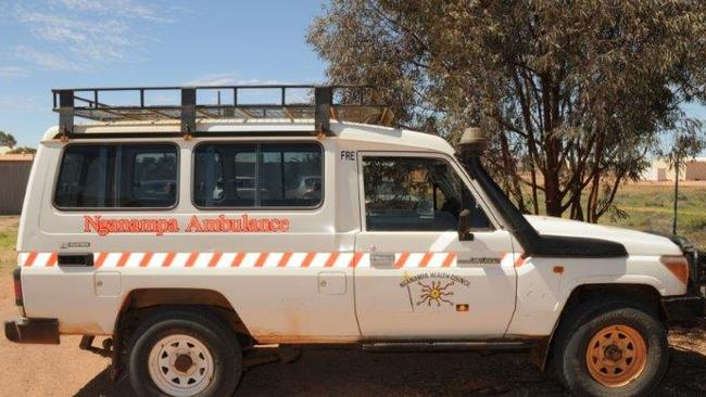 It is believed Gayle Woodford was last seen travelling as a passenger in this ambulance. Source: SA Police