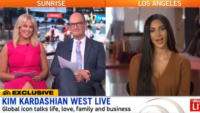 Kim Kardashian's 'exclusive' Sunrise interview.