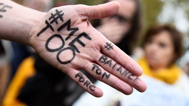 Women and men worldwide have raised their voices as part of the #MeToo movement. Picture: AFP