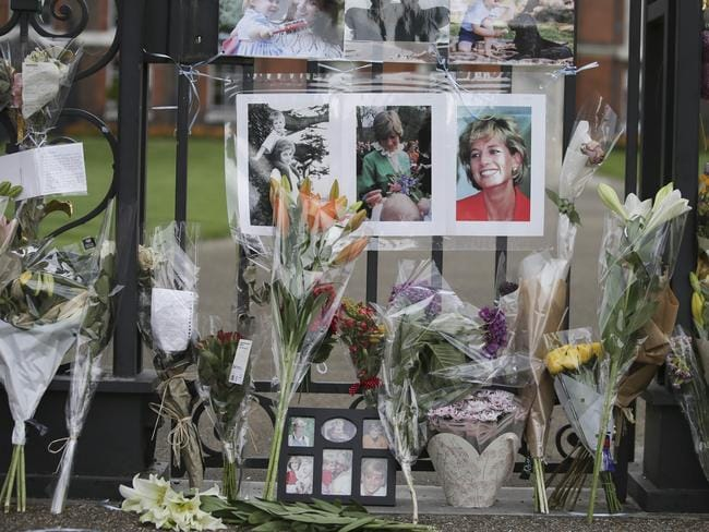 Floral tributes left outside Kensington Palace. Picture: AFOP