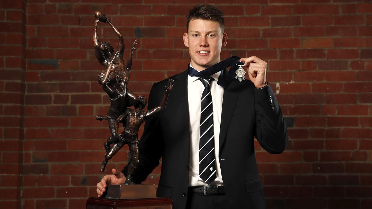 Sam Walsh of the Blues won the 2019 NAB AFL Rising Star Award. Picture: Dylan Burns