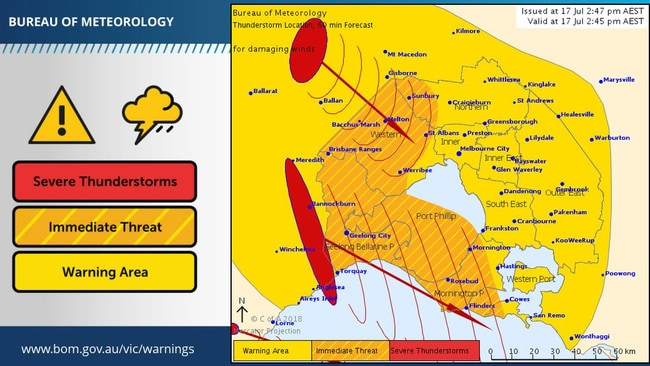 The Bureau of Meteorology's latest warning.