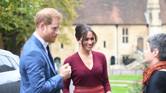 The Duke and Duchess of Sussex arrived at the event together. Picture: Jeremy Selwyn/POOL/AFP