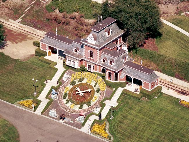 An aerial view of the Jackson's Neverland Valley Ranch. Picture: Getty