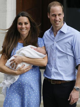 The call took place during Kate's pregnancy with George. Picture: AP