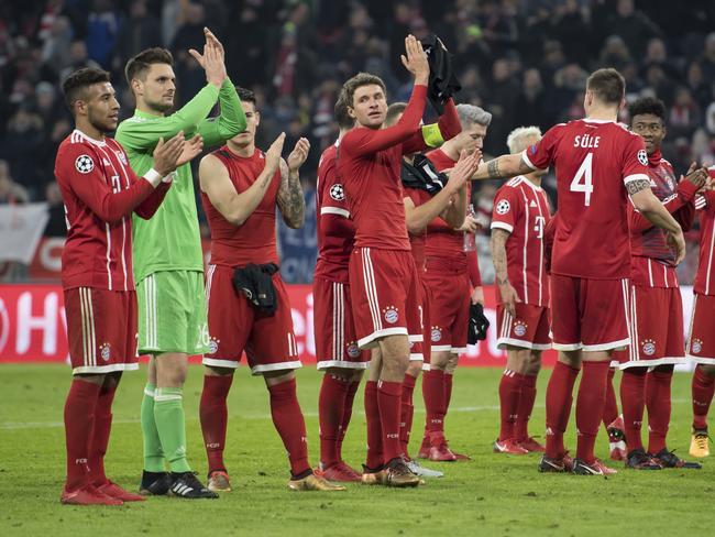 Bayern loom for the big name table toppers.