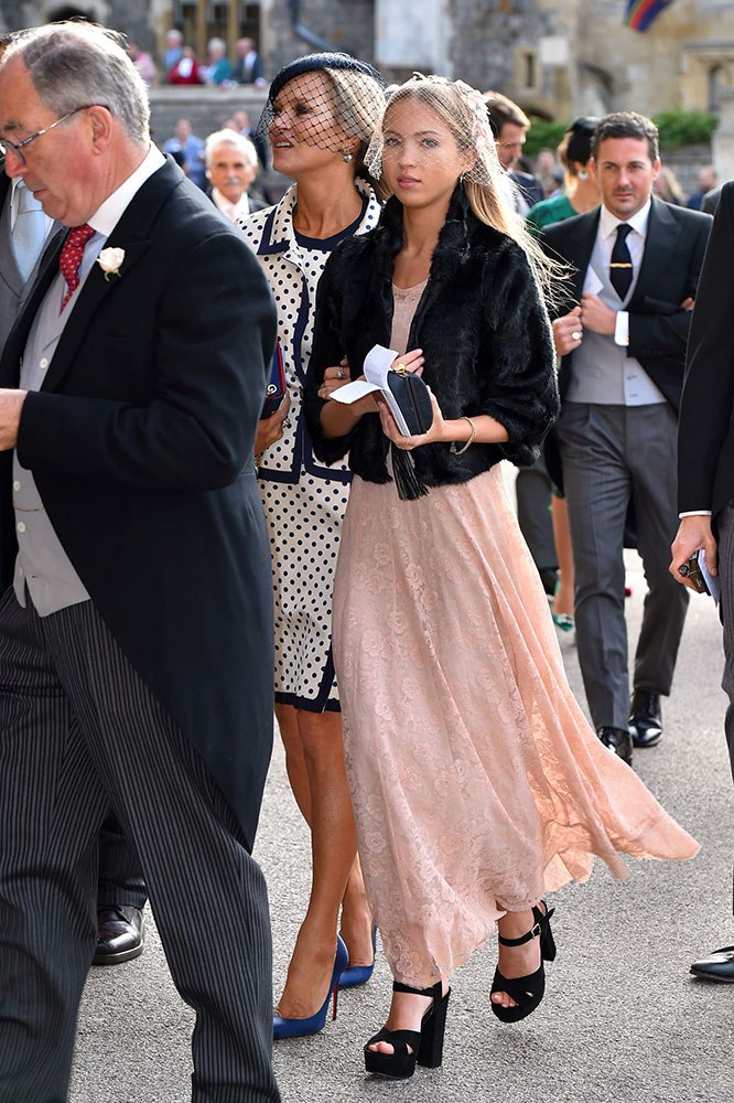 Kate Moss is the epitome of chic at Prince Eugenie's wedding in polka dots