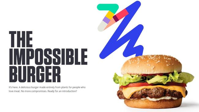 The Impossible Burger patty is made from plant substances.