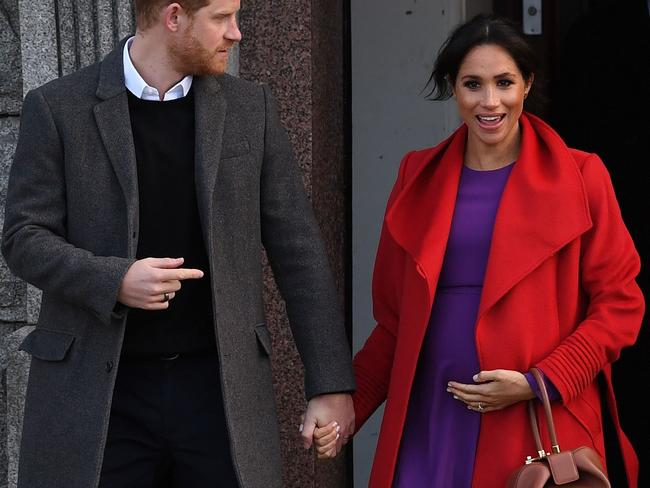 Meghan, Duchess of Sussex may have gained up to 16 kilos during pregnancy. It is thought she will use yoga to get back into shape. Picture: AFP
