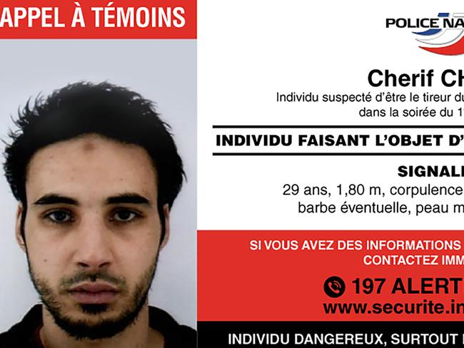 The Strasbourg Christmas market attacker Cherif Chekatt. Picture: French Police via AFP