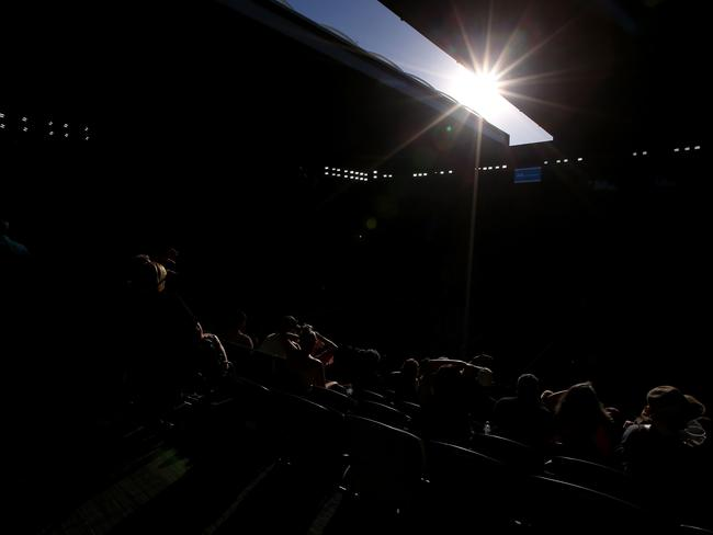 The roof is opened at Rod Laver Arena earlier in the tournament. (Photo by Michael Dodge/Getty Images)