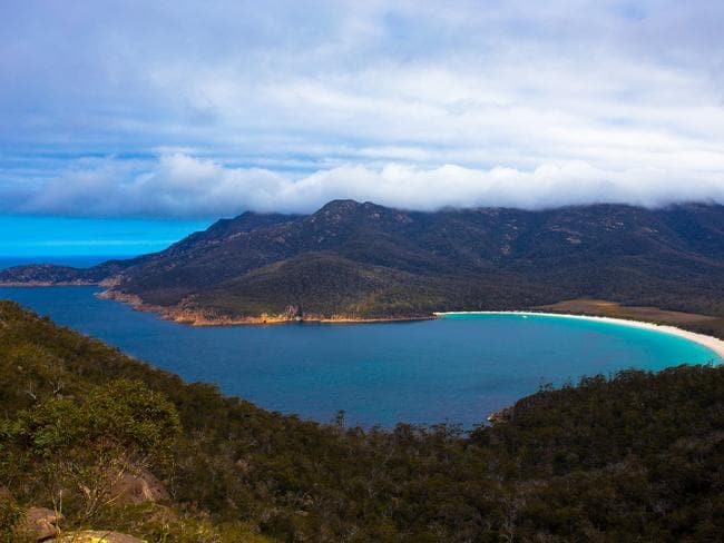 Tassie wine doesn't disappoint, and neither does the view. Picture: Tourism Australia — Graham Freeman