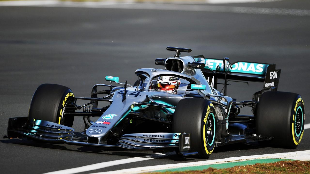 The new W10 was revealed by Mercedes before Lewis Hamilton took it out for a first drive.