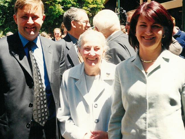 The former Deputy Prime Minister with the two most important women in his life, mother Maryanne and wife Carmel Tebbutt, the first woman to hold the position of Deputy Premier of NSW.