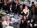 Meryl Streep, Ryan Gosling, Emma Stone, John Legend and Chrissy Teigen during The 23rd Annual Screen Actors Guild Awards. Picture: Getty