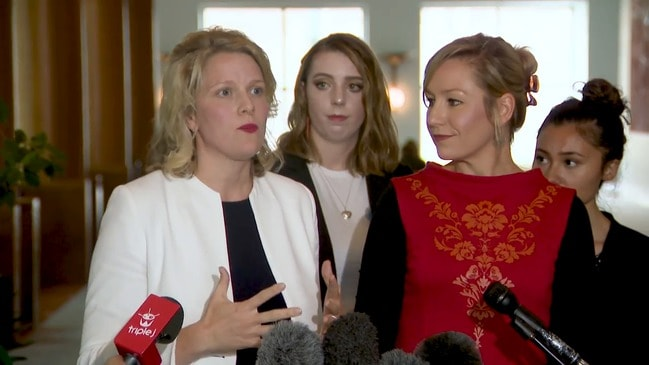 Claire O'Neil and Larissa Waters speak out for women in parliament