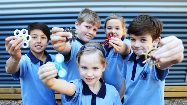 Students with their spinners. Photo Ric Frearson
