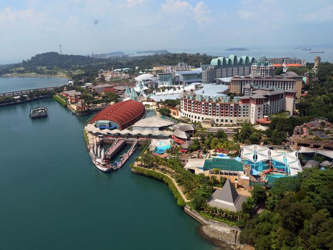 The island is packed with attractions, including a Universal Studios, casinos and golf courses. Picture: AFP/Roslan Rahman