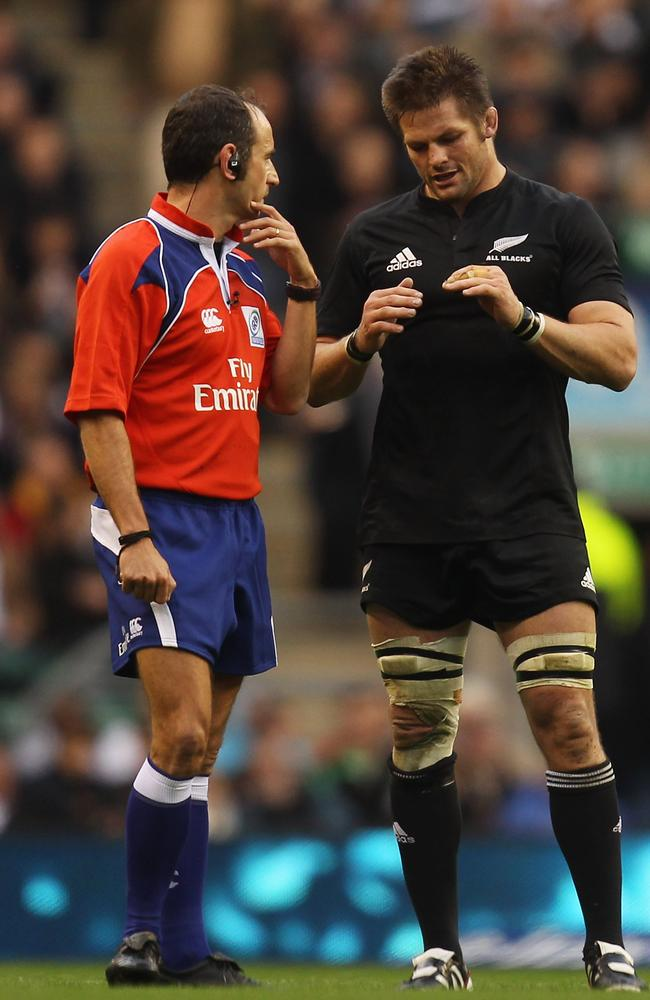 Romain Poite and Richie McCaw will get to renew acquaintances on Saturday at Eden Park in Auckland.