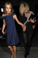 Supermodel Kate Moss parties the night away with Donatella Versace's 20-year-old daughter, Allegra, at the Vivienne Westwood Red Label after party, held at 33 Portland Place. They also visited Punk club and Bungalow 8 club in St Martins Lane in London, UK. Pictured: Kate Moss and Allegra Versace Ref: SPL50800 180908 Picture by: Gotcha Images/ Splash News Splash News and Pictures Los Angeles: 310-821-2666 New York: 212-619-2666 London: 870-934-2666 photodesk@splashnews.com