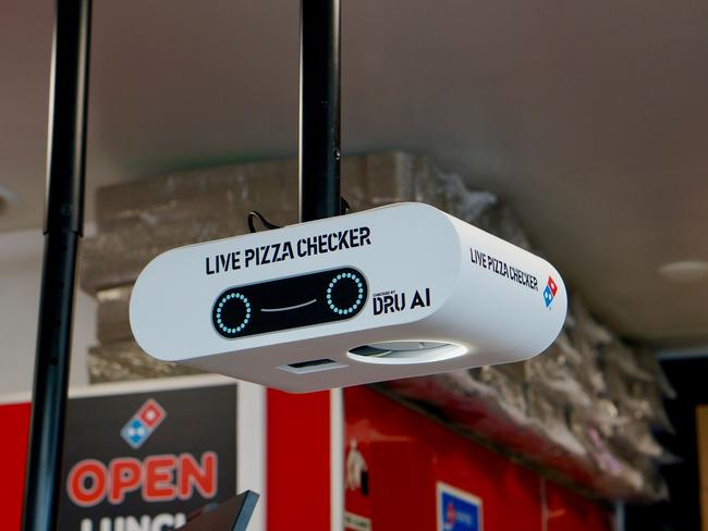 Domino's game-changing 'Pizza Checker' technology. Picture: Domino's Pizza Enterprises Ltd/AAP Image