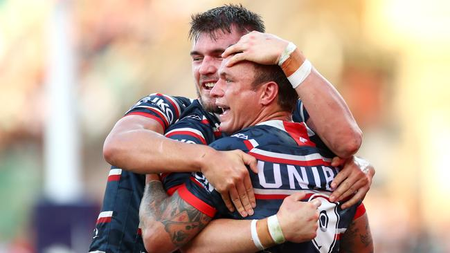 The footy field is often a place of raw emotion. Picture: Getty Images
