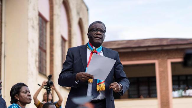 Nobel Peace laureate Dr Denis Mukwege asked: 'What is the international community waiting for to give justice for the victims?' Picture: AFP