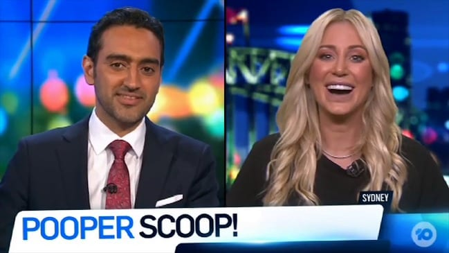 Roxy Jacenko discusses 'poo jogger' on The Project (Network Ten)