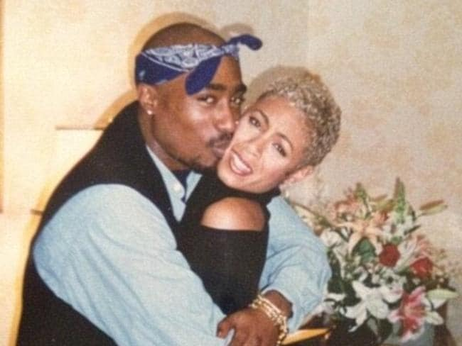 Jada with Tupac, who died in 1996.