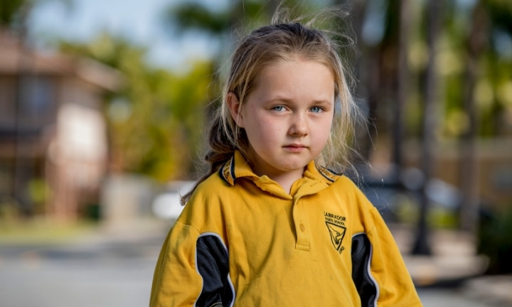 Summah is now scared to return to school after the violent bullying. Picture: Jerad Williams Source: Gold Coast Bulletin