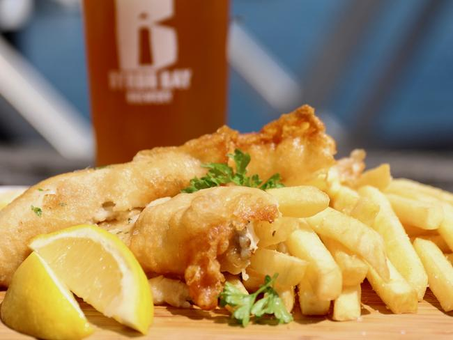 You can't go wrong with the fish & chips. Picture: Jenifer Jagielski