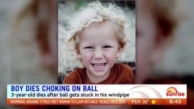 Boy dies after choking on ball