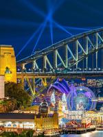 Favourite Instagram moments of Vivid Sydney 2019, the largest festival of lights, music and ideas in the Southern Hemisphere, attracts more than 2 million visitors every year. Luna Park Sydney (Instagram - @bokehandco)