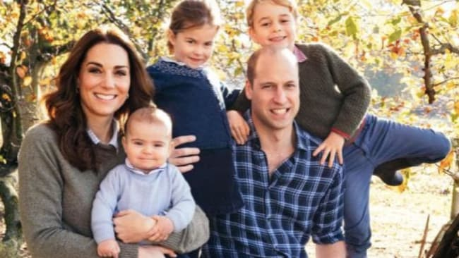 The family portrait that makes Kate happy. Source: AFP