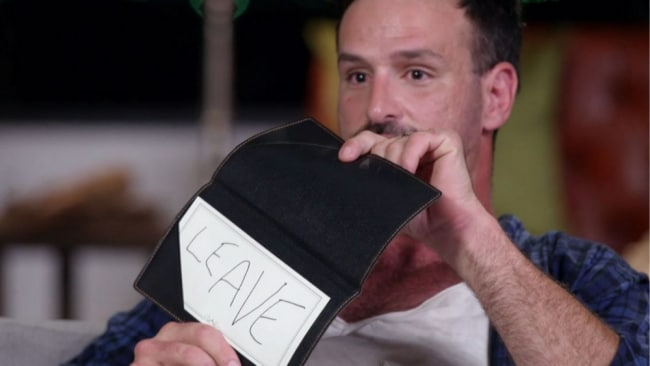 Mick chose to leave last night. Photo: 'Married At First Sight'