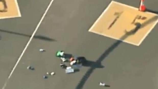 The man, believed to be in his 30s, was reportedly wielding a knife. Picture Channel 7