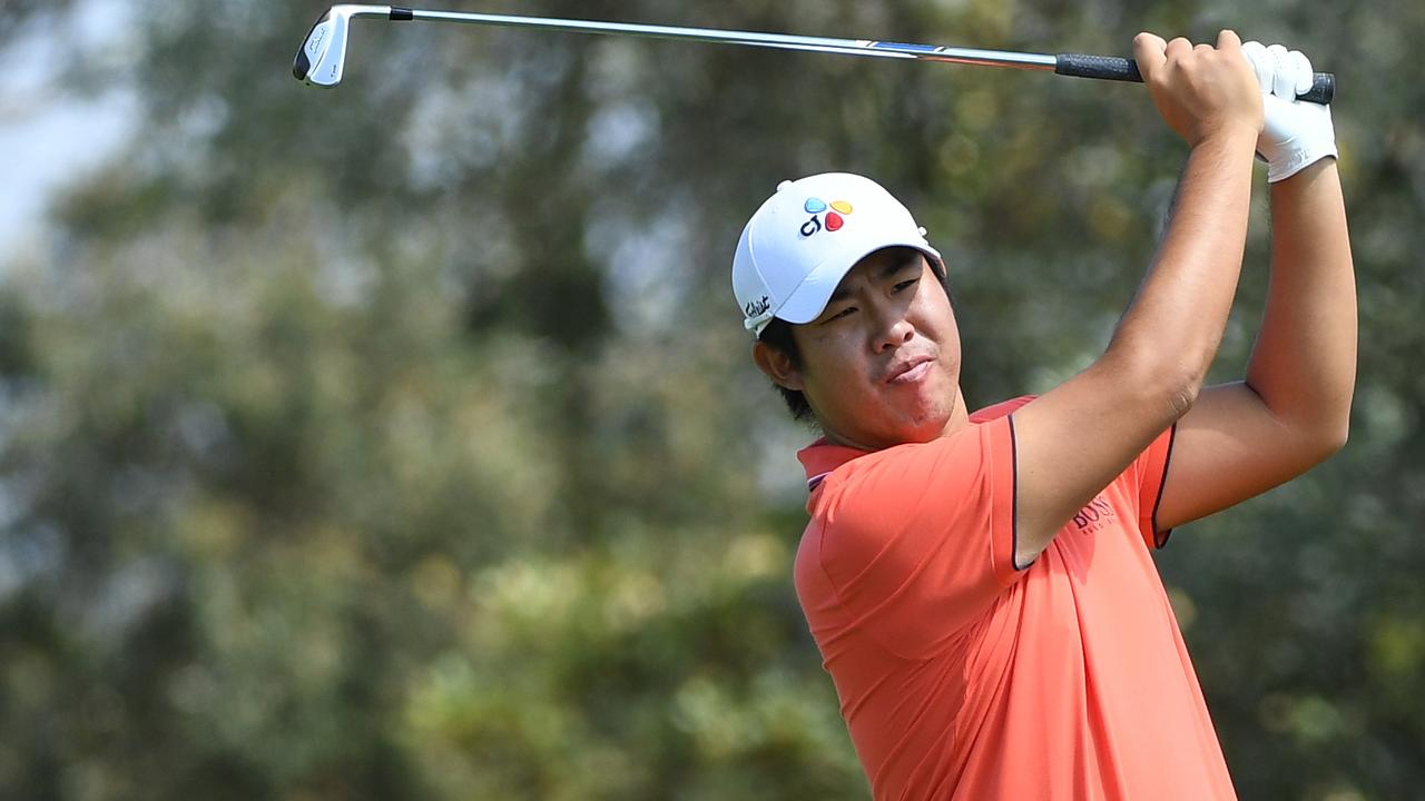Byeong Hun An fired a five-under-par 67 to take a one-shot lead over locals Matt Jager and amateur David Micheluzzi.