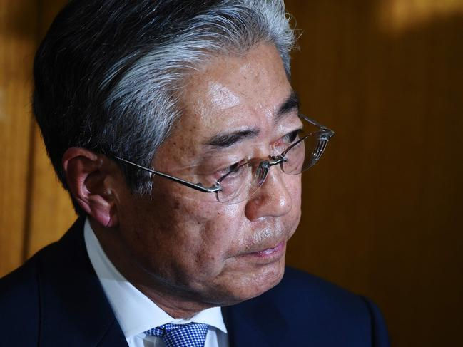 Tsunekazu Takeda says he is stepping down, as French authorities probe his involvement in payments made before Tokyo was awarded the 2020 Summer Games. Picture: AFP