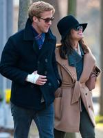 Eva Mendes, 41, and Ryan Gosling, 34, got together after filming The Place Beyond The Pines in 2011. The genetically blessed coupled welcomed their first child in September, baby girl Esmeralda Amada Gosling. Picture: Snapper