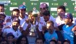 India retained the Border-Gavaskar Trophy. Photo: Kayo.