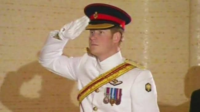 Prince Harry lays a wreath at the Tomb of the Unknown Soldier