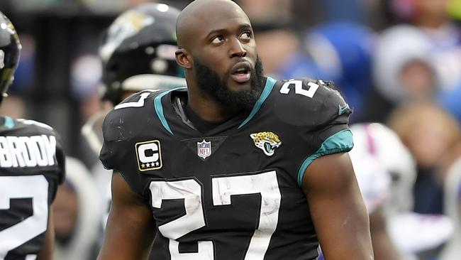 8191f53dc Jacksonville Jaguars running back Leonard Fournette (27) looks on after  being ejected after an altercation with Buffalo Bills defensive end Shaq  Lawson ...