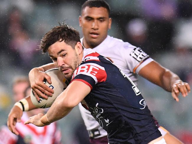 Aidan Guerra of the Roosters in action.