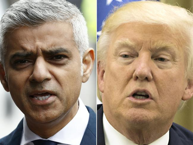 Mr Trump has often exchanged barbs on social media with Mr Khan. Picture: AFP