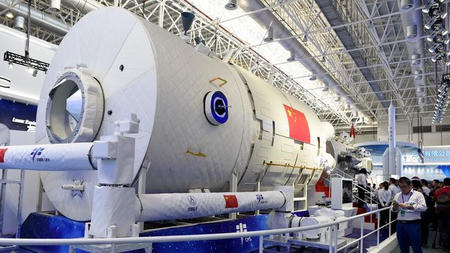 China unveiled a replica of its first permanently crewed space station, which would replace the international community's orbiting laboratory and symbolises the country's major ambitions beyond Earth. Picture: Wang Zhao