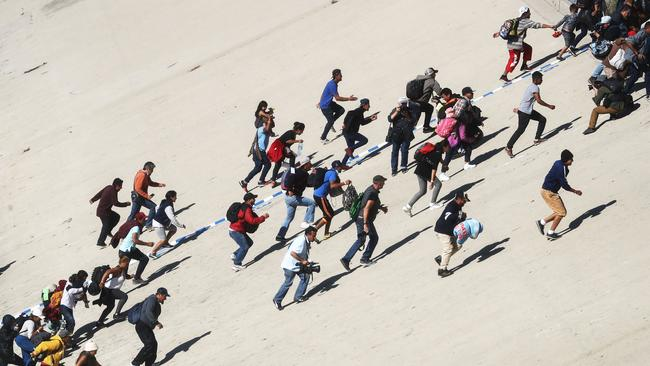 Hundreds of migrants have stormed the US border. Picture: Mario Tama/Getty Images