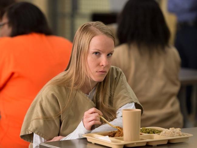 Leanne, a character from Orange is the New Black, was raised Amish. She started using meth during her rumspringa, which landed her a stay in Litchfield Penitentiary. Picture: Netflix