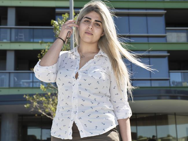 Delsa Daryaei was evacuated from the building on Christmas Eve. Picture: Flavio Brancaleone