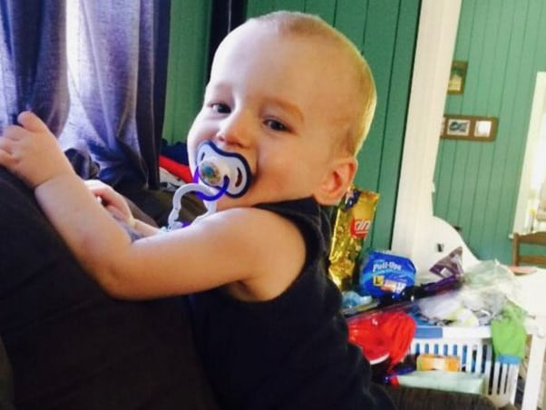 The baby boy suffered horrific abuse at home from his father.